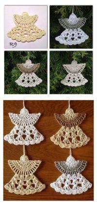 Christmas Guardian angel Ornament Free Crochet Pattern
