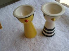 VINTAGE PAIR OF ART DECO EGG CUPS