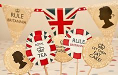 PRINTABLE Jubilee Party Cupcake cake Toppers