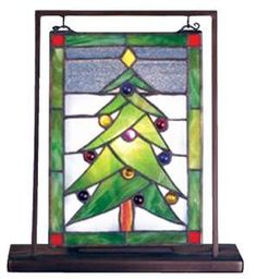 (Limited Supply) Click Image Above: - O Christmas Tree Lighted Mini Stained Glass Tabletop By Meyda Tiffany Stained Glass Panels, Stained Glass Art, Mosaic Glass, Fused Glass, Leaded Glass, Stained Glass Christmas, Glass Christmas Tree, Green Christmas, Rustic Christmas