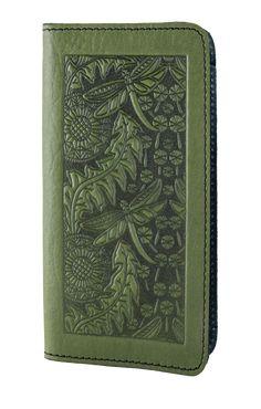 Leather Smartphone Wallet Dandelion Dragonfly | 2 Colors