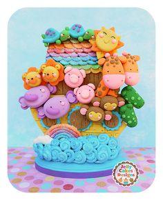 baby noahs ark | Noah's Ark keepsake cake topper/table decoration for baby shower or ...