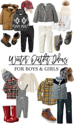 Winter outfit ideas for boys and girls // Winter Outfit Ideas for Kids // Winter Outfit Ideas for Children // Winter Fashion for Kids // Lynzy & Co.