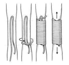 to Make a Bow and Arrow By Hand - - How to Make a Bow and Arrow By Hand – -How to Make a Bow and Arrow By Hand - - How to Make a Bow and Arrow By Hand – - Paracord Handle Wrap Procedure Diy And Crafts, Arts And Crafts, Archery Bows, Traditional Archery, Micro Macramé, Macrame Knots, Macrame Patterns, Swedish Weaving Patterns, Survival Skills