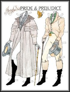 Mr Darcy paper doll great coat