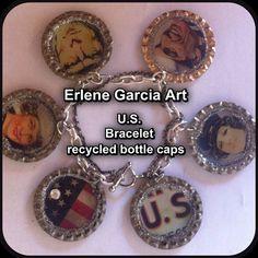 U.S. Bottle Cap Bracelet by ErleneGarciaArt on Etsy