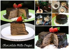 Chocolate Mille Crepe  Recipe inspired by http://www.marthastewart.com/356131/darkest-chocolate-crepe-cake