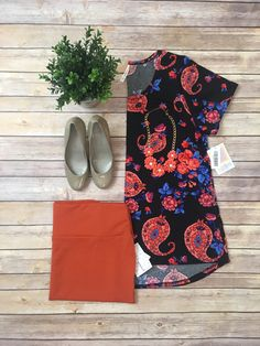Classic T and Cassie skirt.  Come shop with me: https://www.facebook.com/groups/lularoekatiewelch/