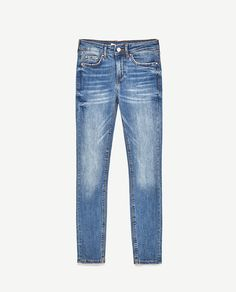 Skinny Jeans halfhoge taille