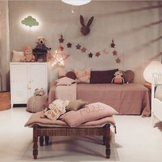 Dusty pink room for a girl