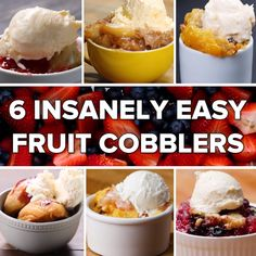 6 Insanely Easy Fruit Cobblers