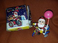Vintage Santa Tricycle W/Balloon (Wind Up) by VintageBarnYard on Etsy