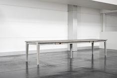 Gent: landelijke geborstelde en gebeitste houten tafel – 2600 / 3200 / 4000 mm