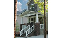 Square Tapered Recessed Panel Post III Column & Post Inc. III Craftsman Style III Stone Entryway III Porch Ideas