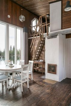 Scandinavian small dream house interior hall of homes style log and timber . scandinavian home design Modern Interior, Home Interior Design, Exterior Design, Exterior Paint, Style At Home, Hygge, Small Wooden House, Dream House Interior, Dream House Plans