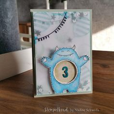 Yummy in my Tummy, Any Occasion, Ballonparty, Partyballons, Shaker Card, Schüttelkarte, Stampin UP, Pazifikblau, Petrol, Minzmakrone, Saharasand, colorieren