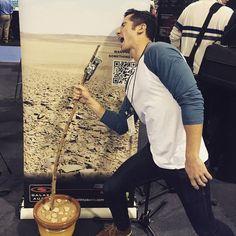 Daniel Manzano testing his new mic ❤ #boyceavenue