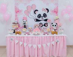 50 Ideias Festa Panda 39 Panda Themed Party, Panda Birthday Party, Panda Party, 1st Birthday Cakes, 3rd Birthday Parties, Birthday Party Decorations, Baby Shower Themes, Baby Shower Cakes, Panda Baby Showers