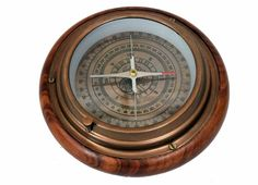 Style; In Logical Nautical Brass Antique Desk Clock Marine Style Compass Antique Brass Vintage Fashionable