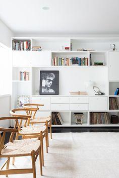 Modern Apartment Sergipe In Brazil Hans Wegner Living Area Room Bookcase Wall