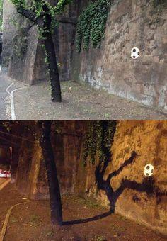 De día árbol de noche futbolista