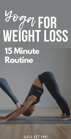 15 Minute Yoga Routine to Lose Weight and Burn Fat Quickly - Oh my word! This yoga routine to do at home is the best way I've found to lose weight! It was exa - Yoga Routine, Exercise Routines, Fitness Tracker, Pranayama, Fitness Motivation, Exercise Motivation, Yoga Moves, Pilates Yoga, Cool Yoga Poses