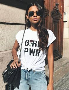 Every girl needs a Girl Power Printing T shirt for a awesome display of empowerment | Let Your Slogan T-shirt Be Your Fashion Statement