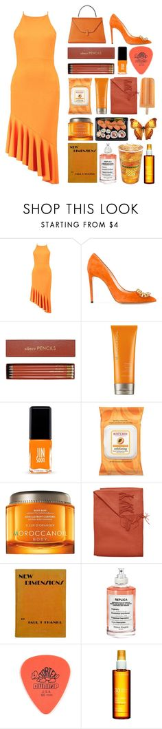 """""""6.495"""" by katrinattack ❤ liked on Polyvore featuring Boohoo, Casadei, Sloane Stationery, Moroccanoil, Jin Soon, Burt's Bees, Sofiacashmere, Maison Margiela, Dunlop and Clarins"""