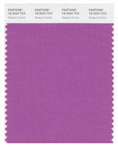 Color of the year 2014 pantone swatch - Radiant Orchid