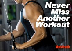 Need some motivation to get going? Read this and never miss a workout again: http://www.menshealth.com/never-miss-another-workout-easy-motivators?cid=soc_pinterest_content-fitness_sept14_nevermissaworkout
