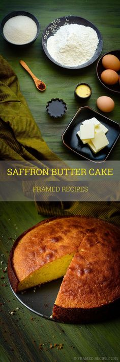 This saffron infused butter cake is all things delicious - (aromatic) saffron, buttery, moist,tenderly sweet.