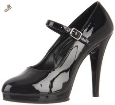 Pleaser Women's Flair-487 Mary Jane Pump,Black Patent,7 M US - Pleaser pumps for women (*Amazon Partner-Link)