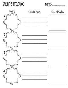 blank spelling test template free ela pinterest spelling test template spelling test. Black Bedroom Furniture Sets. Home Design Ideas