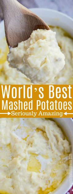 The World's Best Mashed Potatoes, the best thanksgiving side dish recipe. - - The World's Best Mashed Potatoes, the best thanksgiving side dish recipe. Essen The World's Best Mashed Potatoes, the best thanksgiving side dish recipe. Best Mashed Potatoes Ever, Mashed Potato Recipes, Thanksgiving Mashed Potatoes Recipe, Mashed Potatoes Recipe With Milk, Paula Deen Mashed Potatoes, Best Mash Potato Recipes, Russet Potato Recipes, Best Potatoes For Mash, Thanksgiving Menu