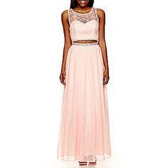 8b4b992a948ee jcp | My Michelle® Sleeveless Lace Bust Full Skirt 2 Pc Long Slim Dress  $79.99. stoner · P R O M