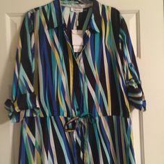Calvin Klein Dress Long Calvin Klein Silk Shirt Dress. BNWT!!! Calvin Klein Dresses Long Sleeve