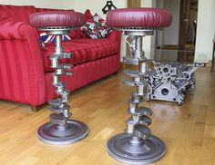 Crankshaft stool - The Garage Journal Board