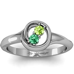 Eternity Family Ring by jewlr.com 10k white gold with genuine birthstones is $ 358.00