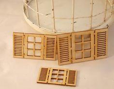 Wooden shutter windows -3 pieces