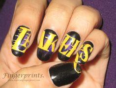 Lakers #NailArt <3
