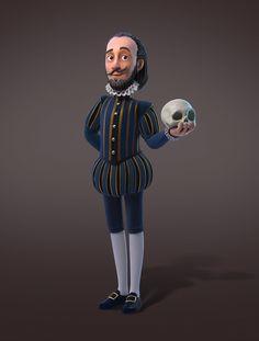 Shakespeare, Maicow Silva on ArtStation at https://www.artstation.com/artwork/J6Bq0