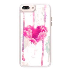 iPhone 7 Plus/7/6 Plus/6/5/5s/5c Case - Modern Pink Cloud Love Heart... ($45) ❤ liked on Polyvore featuring accessories, tech accessories, iphone case, pink glitter iphone case, transparent smartphone, transparent iphone case, iphone cover case and iphone hard case