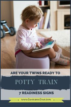 Parents change around 8-10 diapers a day, per baby.  So as a parent of twins, multiply that by 2. And while you may be as ready as can be to begin potty training, do you know if your twins are really ready?