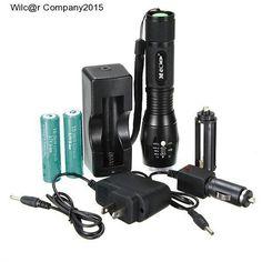 Military Grade Tactical CREE LED Flashlight 1600LM W/ Battery 18650 X800 Style http://www.ebay.com/itm/182049218237?ssPageName=STRK:MESELX:IT&_trksid=p3984.m1555.l2649