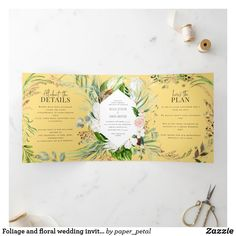 Addressing Wedding Invitations, Wedding Invitations Online, Wedding Invitation Wording, Floral Wedding Invitations, Floral Save The Dates, Wedding Details Card, Botanical Wedding, Floral Watercolor, Muted Colors