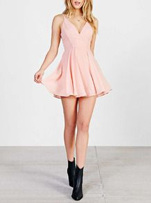 Vestido con tirante cruzado-rosado