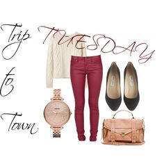 """""""Trip to Town TUESDAY"""" by soo-kimberley-noh on Polyvore"""
