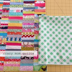 crazy mom quilts: how to make an envelope backed pillow