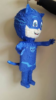 Its time to be a Hero!!  This awesome pinata is completely handmade with paper mache (layers of newspapers ) and cardboard every detail is hand cut.