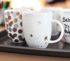 Winter mugs make with Sharpies
